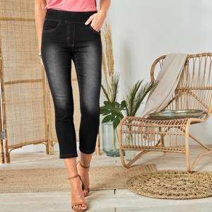 Blancheporte 3/4 džínové kalhoty černá 48