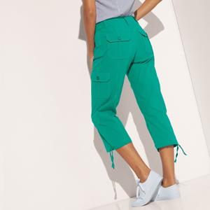 Blancheporte 3/4 kalhoty s úpletovým pásem mátová 44