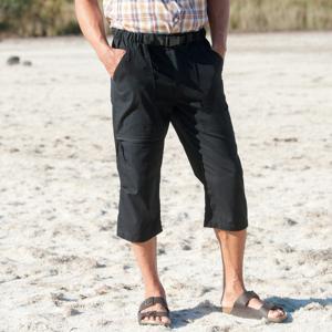 Blancheporte 3/4 kalhoty + sladěný opasek černá 48/50