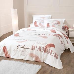 Blancheporte Bavlněné povlečení Grace růžová pudrová povlak na přikrývku 140x200cm