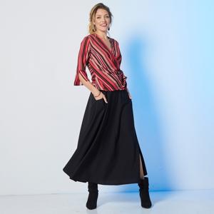 Blancheporte Dlouhá jednobarevná sukně černá 40