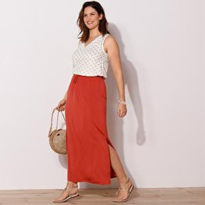 Blancheporte Dlouhá jednobarevná sukně paprika 52