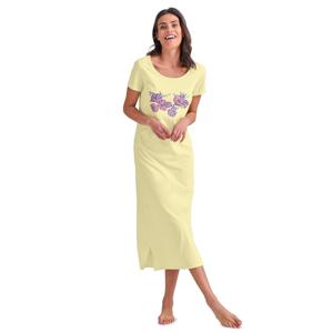 Blancheporte Dlouhá noční košile s motivem květin žlutá 50