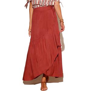Blancheporte Dlouhá pouzdrová sukně terakota 54