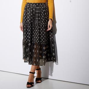Blancheporte Dlouhá sukně s metalickým vláknem černá/medová 40