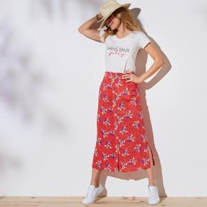 Blancheporte Dlouhá sukně s potiskem červená 44