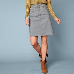 Blancheporte Džínová rozšířená sukně šedá 48