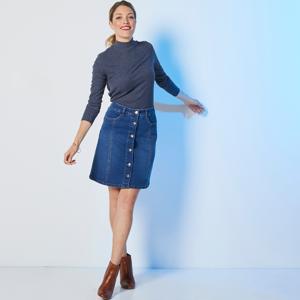 Blancheporte Džínová sukně s knoflíky modrá 46