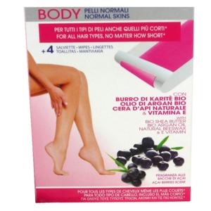 Blancheporte Epilační pásky na tělo + ubrousky aloe vera 24ks