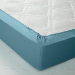 Blancheporte Jednobarevné napínací prostěradlo, polyester-bavlna, hloubka rohů 32 cm cedrová napínací prostěradlo 90x190cm