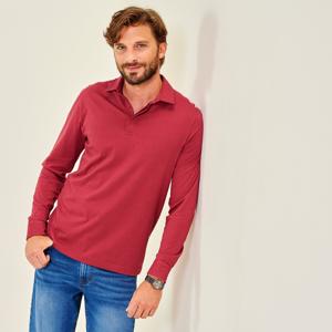 Blancheporte Jednobarevné polo tričko s dlouhými rukávy cihlová 107/116 (XL)