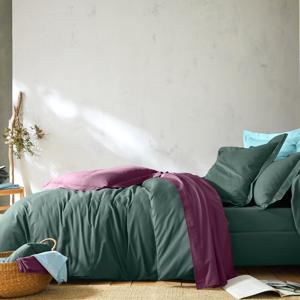 Blancheporte Jednobarevné povlečení, bavlna khaki klasické prostěradlo 180x290cm