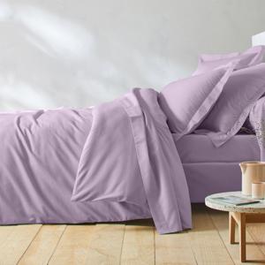 Blancheporte Jednobarevné povlečení, zn. Colombine, biobavlna purpurová povlak 85x185cm