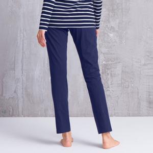 Blancheporte Jednobarevné pyžamové kalhoty, bavlna nám.modrá 38/40
