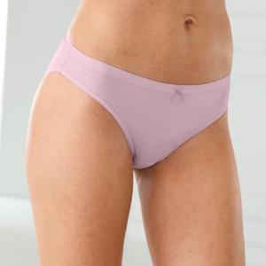 Blancheporte Jednobarevné slipové kalhotky, sada 3 ks světlé barvy 50/52