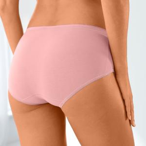 Blancheporte Kalhotky midi Basic, sada 3 ks korálová 50
