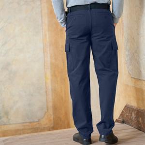 Blancheporte Kalhoty s kapsami, z bavlněného plátna nám.modrá 38