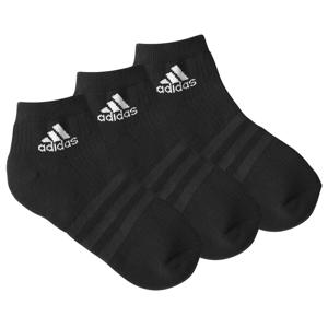 """Blancheporte Kotníkové černé ponožky """"Ankle Crew"""" zn. Adidas, sada 3 párů černá 46/48"""