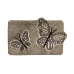 Blancheporte Koupelnová předložka, Motýli béžová/hnědošedá 50x80cm