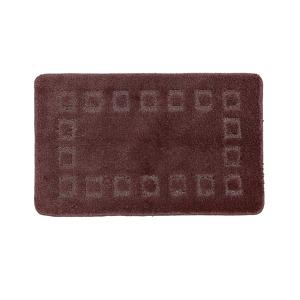 Blancheporte Koupelnová předložka s optickými efektem Cubic čokoládová 60x100cm