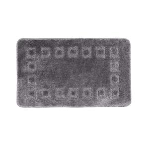 Blancheporte Koupelnová předložka s optickými efektem Cubic šedá antracitová 50x40cm