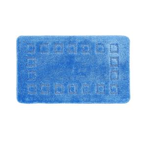 Blancheporte Koupelnová předložka s optickými efektem Cubic tmavě modrá 50x40cm