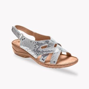 Blancheporte Kožené sandály, stříbrné stříbřitá 40