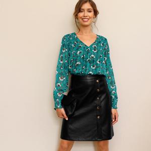 Blancheporte Koženková (1) propínací sukně černá 50