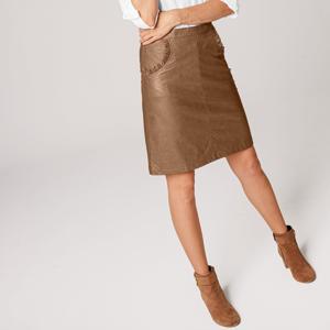 Blancheporte Koženková sukně oříšková 44