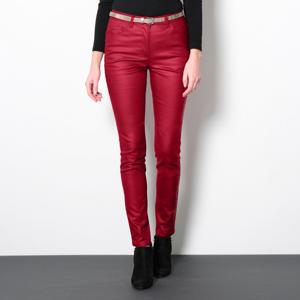 Blancheporte Koženkové kalhoty v úzkém střihu červená 44