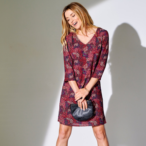 Blancheporte Krátké šaty s potiskem režná 44