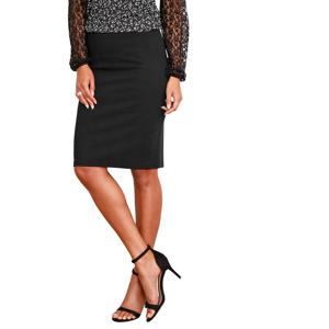 Blancheporte Krepová sukně černá 50