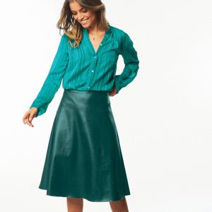 Blancheporte Midi koženková (1) sukně lahvově zelená 36