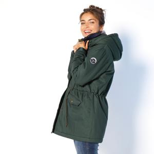 Blancheporte Nepromokavá parka s kapucí a fleecovou podšívkou khaki 38