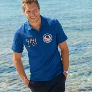 "Blancheporte Polo tričko s potiskem ""73 Hawai"" modrá 97/106 (L)"