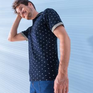 Blancheporte Polo tričko z piké úpletu, minimalistický design nám.modrá 87/96 (M)