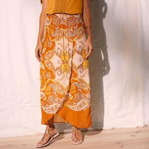 Blancheporte Pouzdrová sukně s potiskem kari/bílá 54