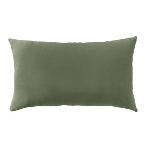 Blancheporte Povlak na polštářek, 100% len v prané úpravě, sada 2 ks zelená 35x60cm