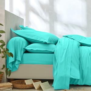 Blancheporte Povlečení, bavlna a Lyocell blankytně modrá napínací prostěradlo 90x190cm