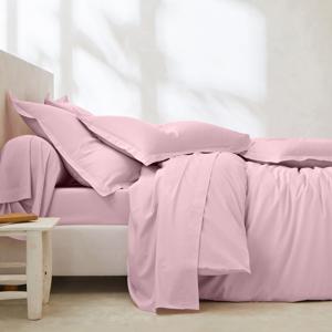 Blancheporte Povlečení, bavlna a Lyocell růžová klasické prostěradlo 240x310cm