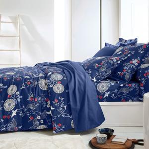 Blancheporte Povlečení Hoshi, bavlna, zn. Colombine modrá povlak na přikrývku 140x200cm