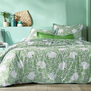 Blancheporte Povlečení Jane, bavlna zelená/bílá povlak na přikrývku 240x220cm