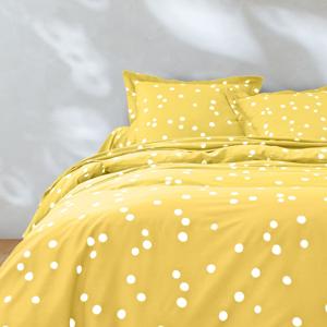 Blancheporte Povlečení Jean puntíky, bavlna žlutá povlak na přikrývku 140x200cm