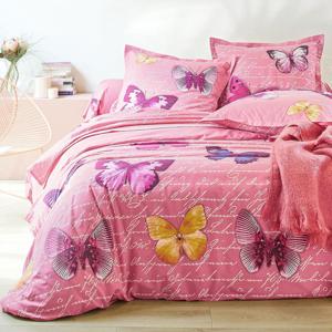 Blancheporte Povlečení Lucie, bavlna, zn. Colombine růžová klasické prostěradlo 180x290cm
