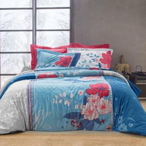 Blancheporte Povlečení Tender, bavlna modrá napínací prostěradlo 90x190cm