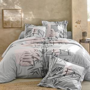 Blancheporte Povlečení Yana, bavlna šedá napínací prostěradlo 90x190cm