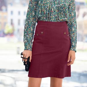 Blancheporte Propínací rozšířená sukně bordó 44