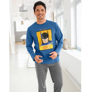 Blancheporte Pyžamo s kalhotami Batman modrá/antracitová 137/146 (4XL)
