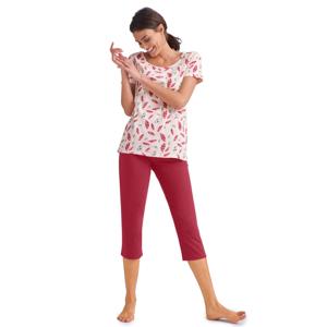 Blancheporte Pyžamo se 3/4 kalhotami a krátkými rukávy růžová 42/44