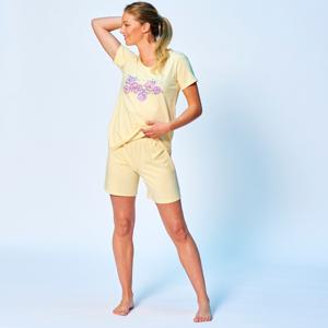 Blancheporte Pyžamo se šortkami a motivem květin žlutá 34/36